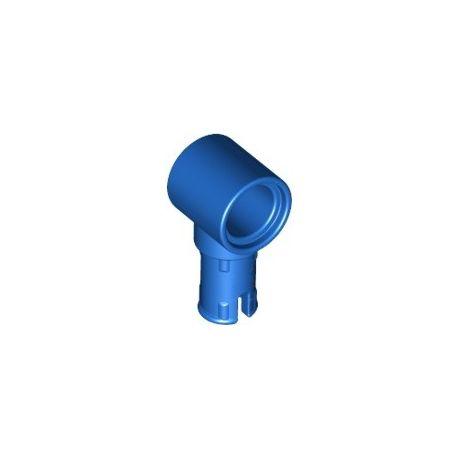 Pin (mit Reibung) und Pinloch, blau