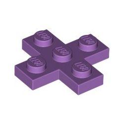 Platte 3x3 Kreuz, violett
