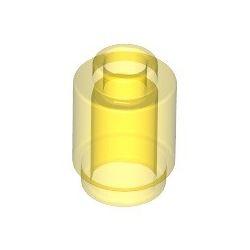 Stein 1x1 rund, transparent gelb