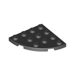 Platte 4x4 viertelrund, schwarz