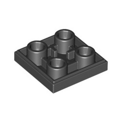 Kachel / Fliese 2x2 inv, schwarz