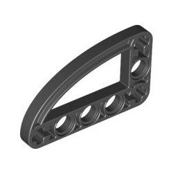Lochbalken 3x5 schmal, L-Form mit Bogen, schwarz