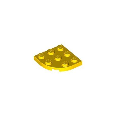 Platte 3x3 viertelrund, gelb