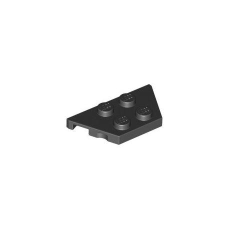 Platte 2x4, abgeschrägte Ecken, schwarz