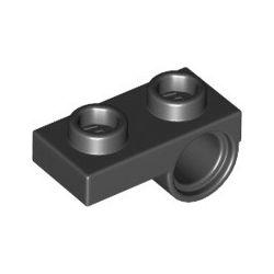 Platte 1x2 mit Pinloch unten, schwarz