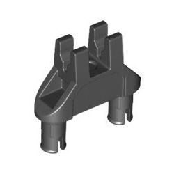 Verbindung 1x3 mit 2 Pins und 2 Clips, schwarz