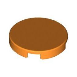 Kachel / Fliese 2x2 rund, orange