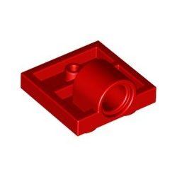 Platte 2x2 mit Pinloch, rot