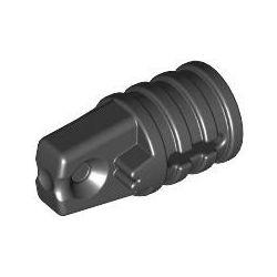 Zylinder mit Scharnier, 1 Finger, schwarz