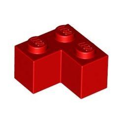Stein 2x2 Winkel / Ecke, rot