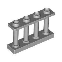 Zaun 1x4x2, hellgrau