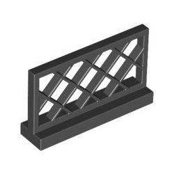 Gitterzaun 1x4x2, schwarz