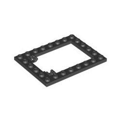 """Platte 6x8 """"Rahmen für Falltür"""", schwarz"""