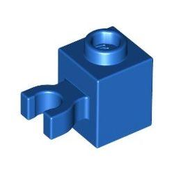 Stein 1x1 mit vertikalem Clip, blau