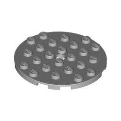 Platte 6x6 rund, hellgrau
