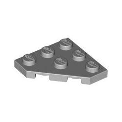 Platte 3x3, abgeschrägte Ecke, hellgrau