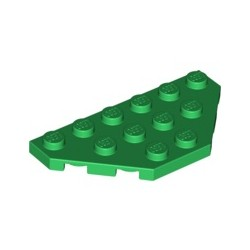 Platte 3x6, abgeschrägte Ecken, grün