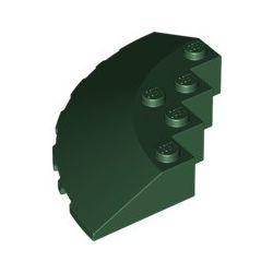 Stein 6x6 viertelrund, dunkelgrün