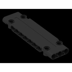 Paneele 3 x 11 x 1 mit 4 Pinlöchern, schwarz
