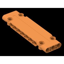 Paneele 3 x 11 x 1 mit 4 Pinlöchern, orange