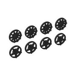 Radkappen Set 2x4 Stück, schwarz
