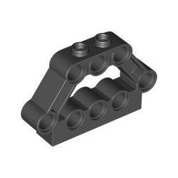 Lochstein 1x5x3 mit 8 Pinlöchern, schwarz