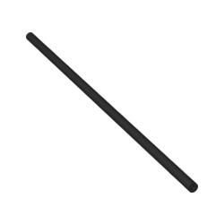 Pneumatik Schlauch 4mm x 184 mm, schwarz