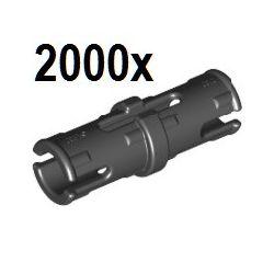 2000 Stück Pin 2L (mit Reibung), schwarz - Vorratsangebot