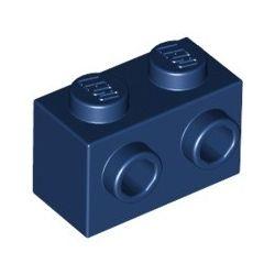 Stein 1x2 mit 2 seitlichen Noppen, dunkelblau