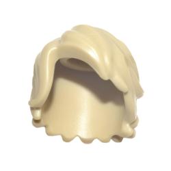 Haare halblang, zerzaust, beige