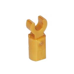 Stangenhalter mit Clip, gold matt