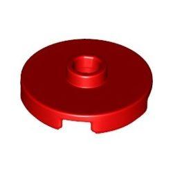 Platte 2x2 rund mit zentraler Noppe, rot