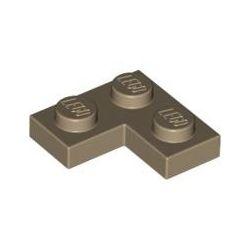 Platte 2x2 Winkel / Ecke, dunkelbeige
