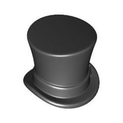 Zylinder mit Band, schwarz
