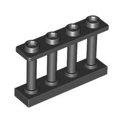Zaun 1x4x2, schwarz