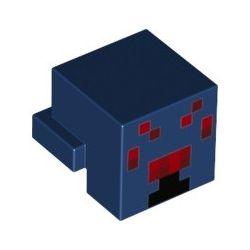Minecraft Spinnenkopf, dunkelblau