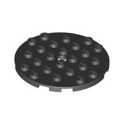 Platte 6x6 rund, schwarz