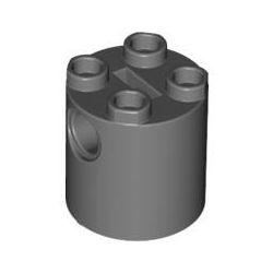 Stein 2x2x2 rund, dunkelgrau