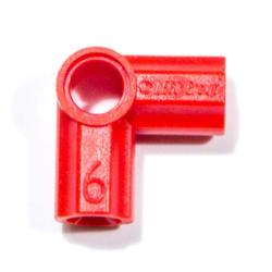 Achsen- und Pinverbindung 6 - 90 Grad, rot