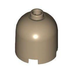 Stein 2x2x1 2/3 Kuppel rund, dunkelbeige