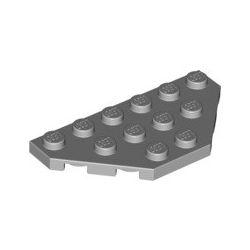 Platte 3x6, abgeschrägte Ecken, hellgrau
