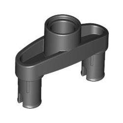 Pinverbindung 3L, 2 Pins und zentrales Pinloch, schwarz