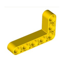 Lochbalken 3 x 5 dick, L-Form, gelb