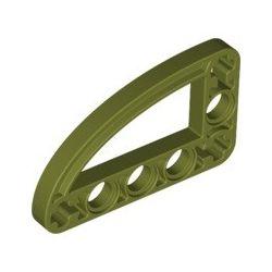 Lochbalken 3x5 schmal, L-Form mit Bogen, olivgrün
