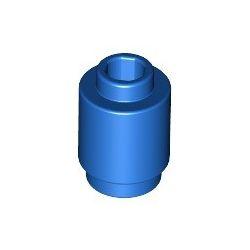 Stein 1x1 rund, blau