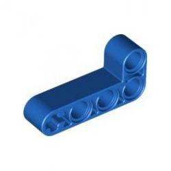 Lochbalken 2 x 4 dick, L-Form, blau