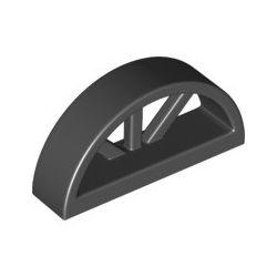 Fenster abgerundet 1x4x1 2/3 mit Speichen, schwarz