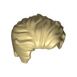 Haare zurückgekämmt, Seitenscheitel, beige