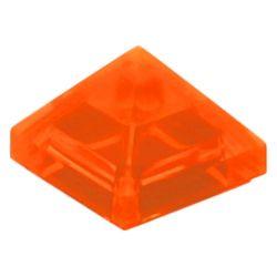 Schrägstein / Pyramide 1x1x2/3, transparent fluoreszierend orange