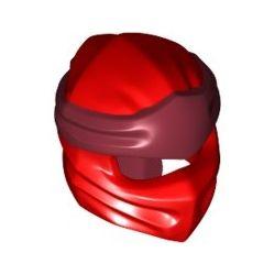 Ninja Maske, rot / dunkelrot